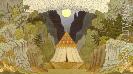 Bilibin Ivan Yakovlevich - Stage design for the opera The Golden Cockerel by N. Rimsky-Korsakov