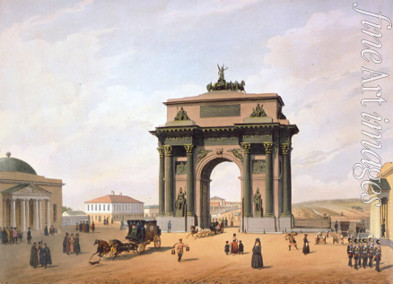 Benoist Philippe - The Triumphal Arch at the Tver Gates in Moscow