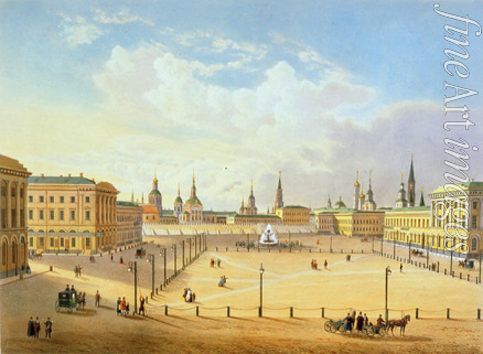 Jacottet Louis Julien - The Theatre Square in Moscow