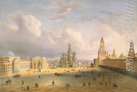 Hostein Edouard Jean Marie - View of the Red Square in Moscow