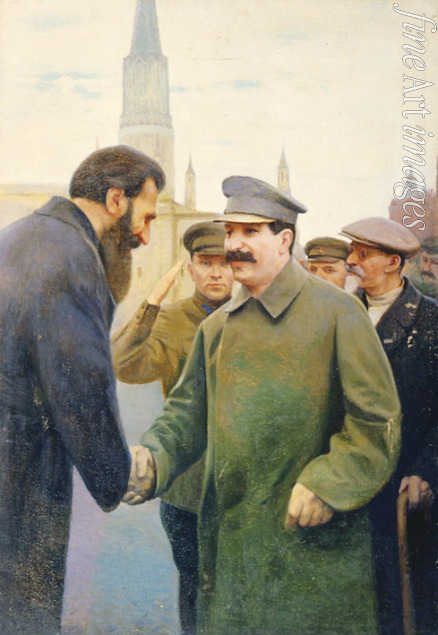 Kalinichenko Jakov Jakovlevich - Josef Stalin and the geophysicist Otto Y. Schmidt (1891-1956)