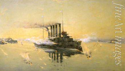 Veshchilov Konstantin Alexandrovich - Cruiser Askold at the Battle of the Yellow Sea on 10 August 1904