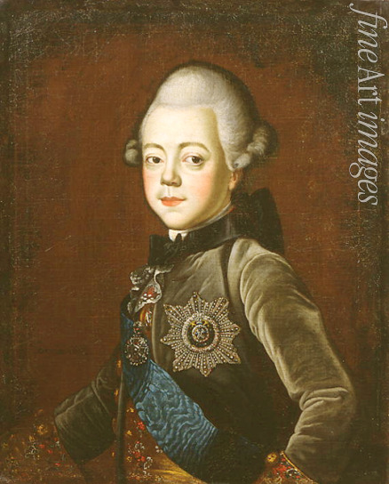 Serdyukov Grigori - Portrait of Grand Duke Pavel Petrovich (1754-1801) as child