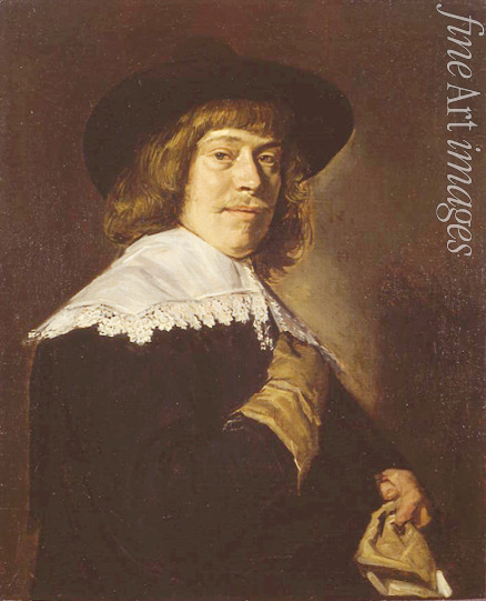 Hals Frans I - Portrait of a Young Man Holding a Glove