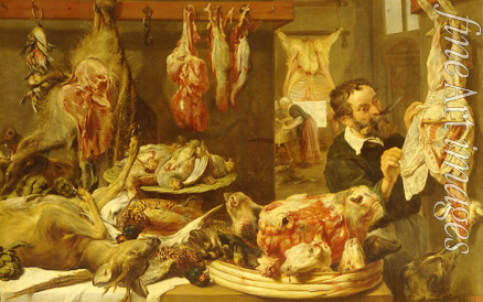 Snyders Frans - A butcher shop
