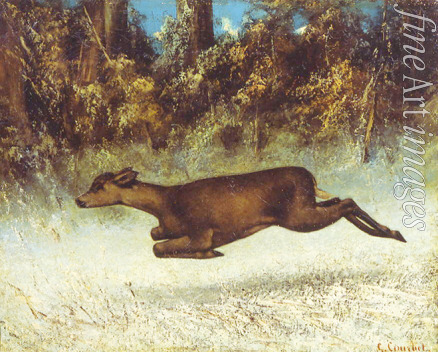 Courbet Gustave - Doe leaping
