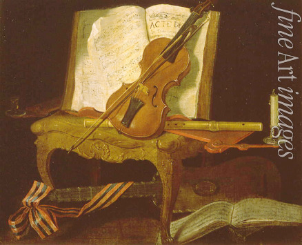 Ouvrié Pierre Justen - Still life with a violin