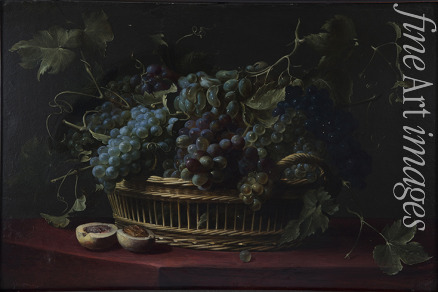 Snyders Frans - Still life with a basket of grapes