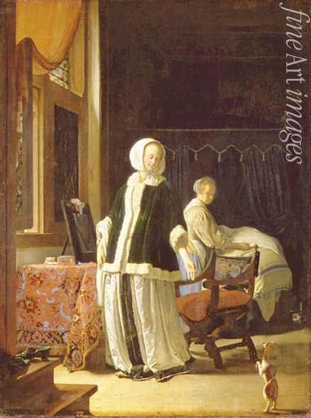 Mieris Frans van the Elder - Morning of a Young Lady