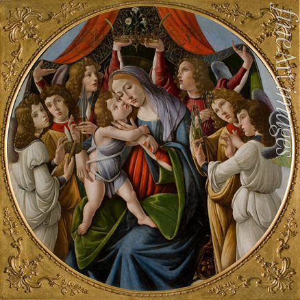 Botticelli Sandro - Madonna and Child with Six Angels