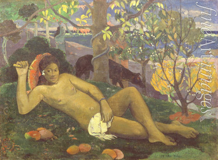 Gauguin Paul Eugéne Henri - Te Arii Vahine (Woman of Royal Blood. The Queen. The King's Wife)
