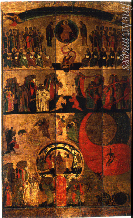 Russian icon - The Last Judgment