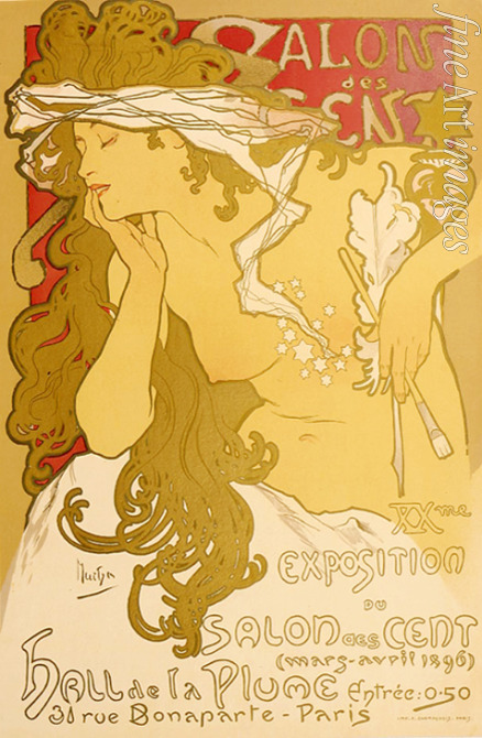 Mucha Alfons Marie - Poster for the XXth Exposition in the Salon des Cent