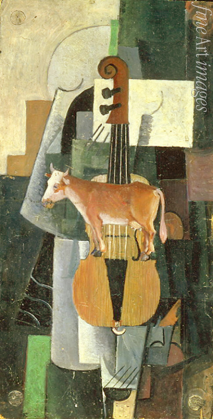 Malevich Kasimir Severinovich - Cow and Violin