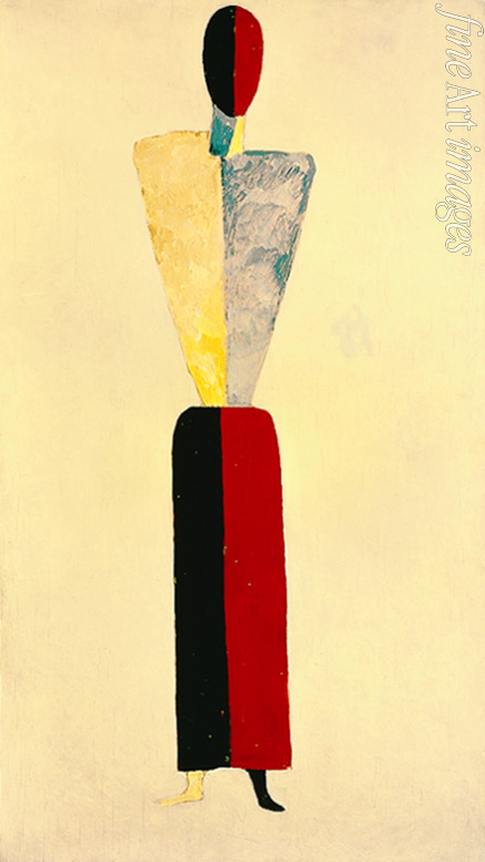 Malevich Kasimir Severinovich - A girl (Figure on White)