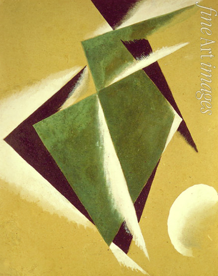 Popova Lyubov Sergeyevna - Construction with white half-moon