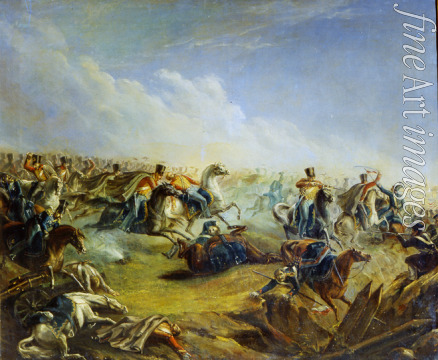 Lermontov Mikhail Yuryevich - The Guard hussars attacking near Warsaw on August 26, 1831