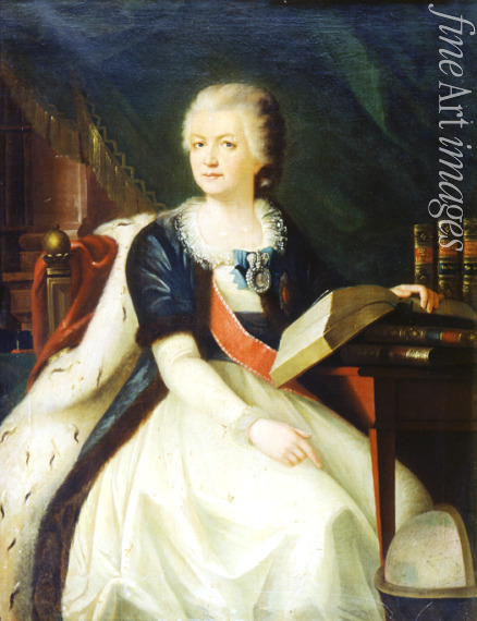 Russian master - Portrait of the Princess Yekaterina R. Vorontsova-Dashkova (1744-1810), the first  President of the Russian Academy of Sciences