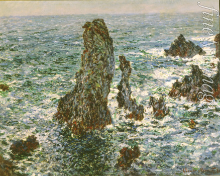 Monet Claude - Felsen in Belle-Ile (Pyramides de Port-Coton, Mer sauvage)