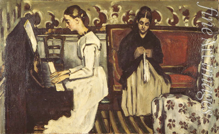 Cézanne Paul - Girl at the Piano (Overture to Tannhauser)