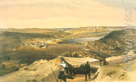 Simpson William - The town batteries, or interior fortifications of Sevastopol on 23 June 1855