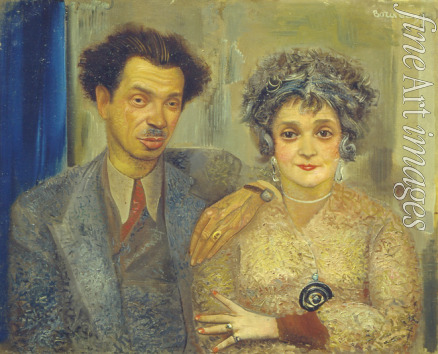 Grigoriev Boris Dmitryevich - Portrait of the artist Nikiolai Remizov (1887-1975) with his wife