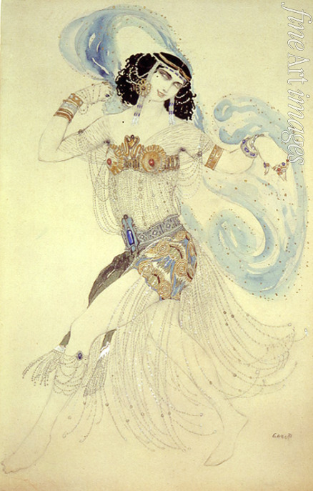 Bakst Léon - Dance of the seven veils. Costume design for the Ballet