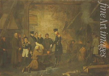 Korzukhin Alexei Ivanovich - Alexander I in an ironworks in Yekaterinburg in 1824