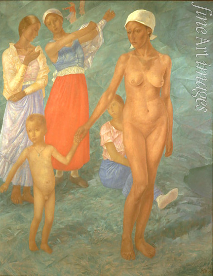 Petrov-Vodkin Kuzma Sergeyevich - Morning. Bathers