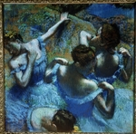 Degas, Edgar - Dancers in Blue