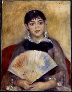 Renoir, Pierre Auguste - Girl with a Fan