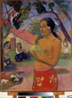 Gauguin, Paul Eugéne Henri - Eu haere ia oe (Woman Holding a Fruit. Where Are You Going?)