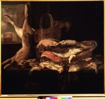 Beijeren, Abraham Hendricksz, van - Still life with Fishes and a dead Hare