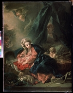 Boucher, François - Virgin and child with John the Baptist as a Boy