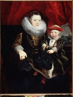 Dyck, Sir Anthony van - Portrait of a young Lady with Child