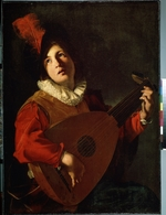 Manfredi, Bartolomeo - The Lute player