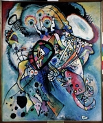 Kandinsky, Wassily Vasilyevich - Two ovals (Composition No 218)
