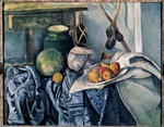 Cézanne, Paul - Still Life with a flagon and aubergines