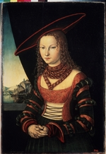 Cranach, Lucas, the Elder - Female portrait (Princess Sibylle of Cleves, bride of Frederick III, Elector of Saxony)