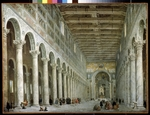 Pannini (Panini), Giovanni Paolo - Interior of the Basilica of St Paul Outside the Walls in Rome