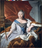 Russian master - Portrait of Empress Elizabeth of Russia (1709-1762)