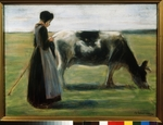 Liebermann, Max - Girl with Cow