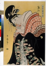 Utamaro, Kitagawa - Beauty Takigawa from the tea-house Ogi (From the series The famous Beautys of Our Days)