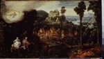 Herri met de Bles, Henri de - Landscape with Flight into Egypt