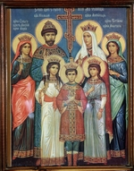 Russian icon - The killed Family of the Tsar Nicholas II