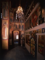 Old Russian Architecture - Interior with the iconostasis in the Church of the Deposition of the Robe in the Moscow Kremlin