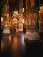 Old Russian Architecture - Interior of the Assumption Cathedral in the Moscow Kremlin