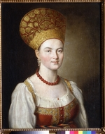 Argunov, Ivan Petrovich - Female portrait in Russian Dress