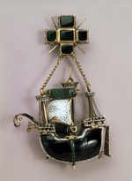 West European Applied Art - Pendant in form of a ship