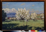 Petrovichev, Pyotr Ivanovich - Cherry Trees Blooming
